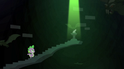 The book at the top of the black stairway, castle of the royal pony sisters, S4E23.png