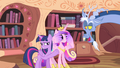 Discord singing towards Twilight and Cadance S4E11.png