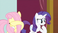 Promotional - Fluttershy and Rarity react to Pinkie's crazy face S3E3.png