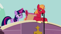 Twilight Sparkle checking another item off the list S2E20