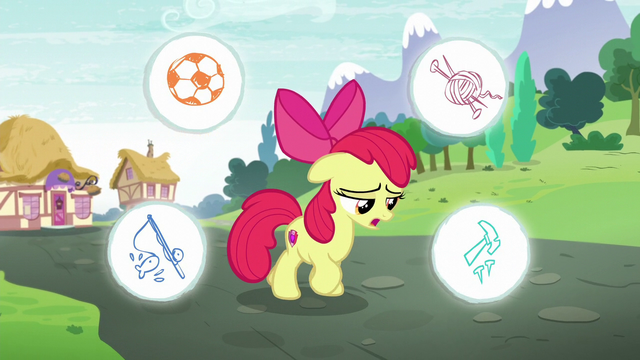 File:Apple Bloom with circles showing stuff she could do around her S6E4.png