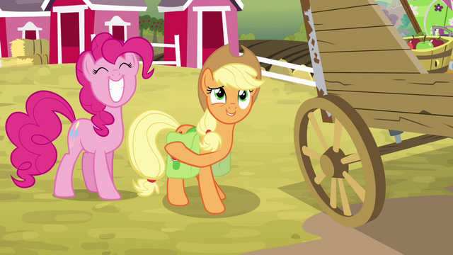 """File:Applejack """"let's get this show on the road!"""" S4E09.png"""