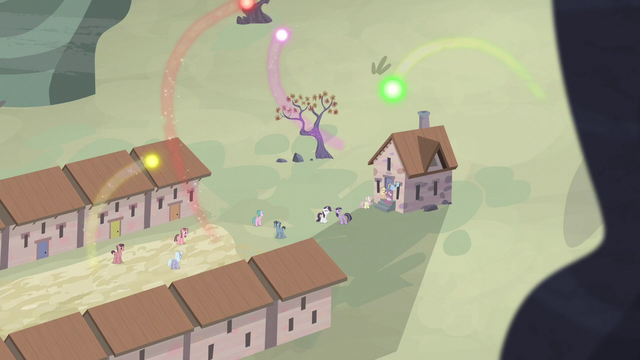 File:Cutie marks flying over the village S5E2.png