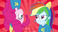Pinkie Pie and Rainbow Dash splash screen EG