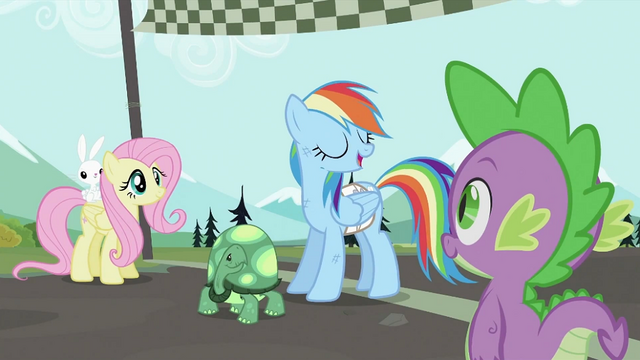 "File:Rainbow Dash ""Take a letter"" S2E07.png"