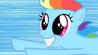 Filly Rainbow Dash big smile S1E23