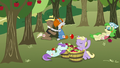 Ponies eating apples and hugging apple trees S7E14.png
