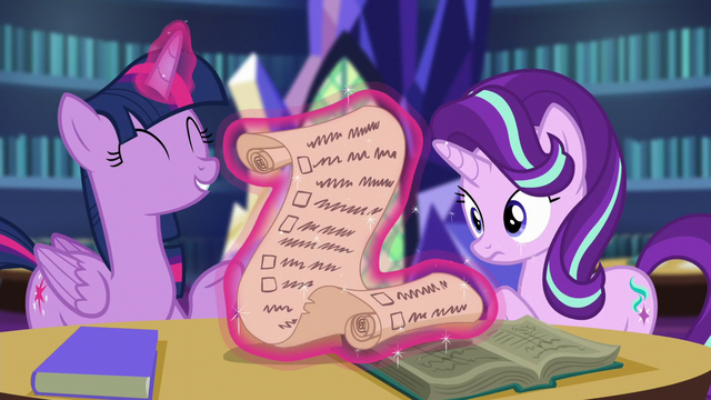 """File:Twilight """"what your first friendship lesson should be"""" S6E1.png"""