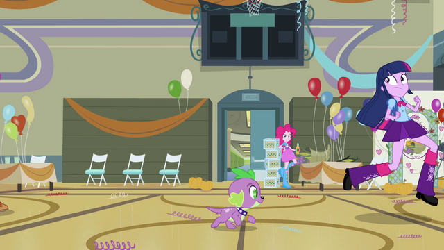 File:Twilight and Spike race out of the gym EG.png