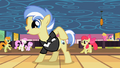 Ponies marvel at Strike's cutie mark S2E6.png