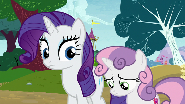 File:Rarity notices Sweetie Belle looking bored again S7E6.png