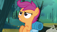Scootaloo beginning to talk to herself S3E6