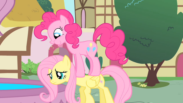 File:Pinkie Pie on top of Fluttershy S01E22.png
