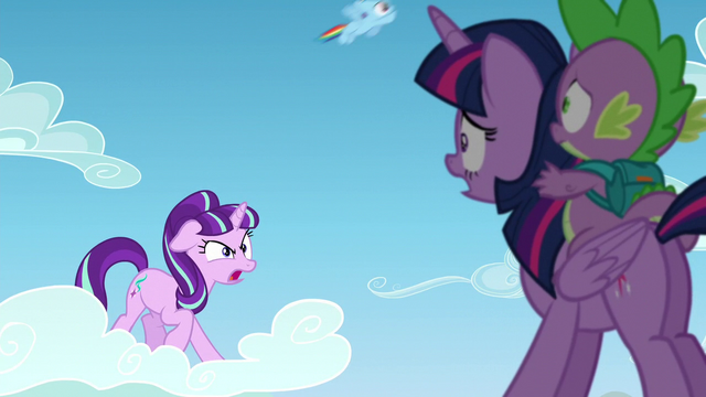 "File:Starlight ""is that important!""; filly Rainbow passes by S5E26.png"