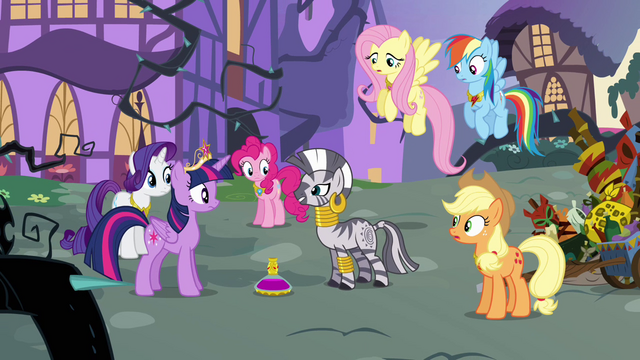 "File:Zecora ""it only responds to Alicorn magic"" S4E01.png"