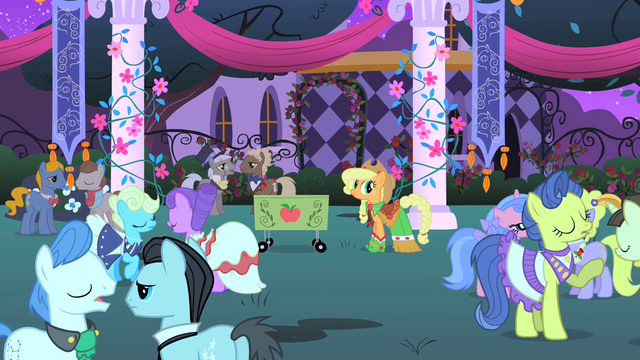 File:Applejack ready to sell treats S1E26.png