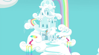 Rainbow flying to her home S4E21