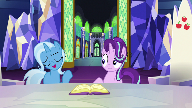 "File:Trixie ""if anypony is gonna teach me"" S7E2.png"