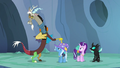 Discord poking Trixie on the hat S6E26.png