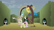 Fluttershy becoming corrupt S2E1.png