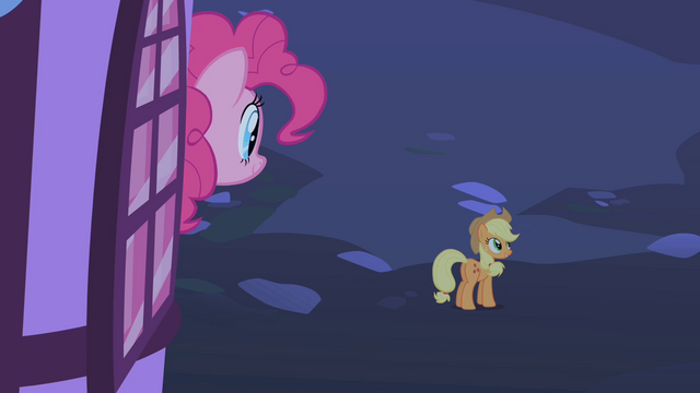File:Pinkie Pie saying goodbye to her friends after the party S1E25.png