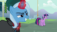Trixie looks at Twilight S3E05