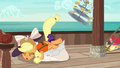 Applejack trips on top of Rarity S6E22.png