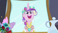 Chrysalis as Cadance singing into mirror S2E26.png