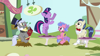 Ponies watching Twilight dance S3E13
