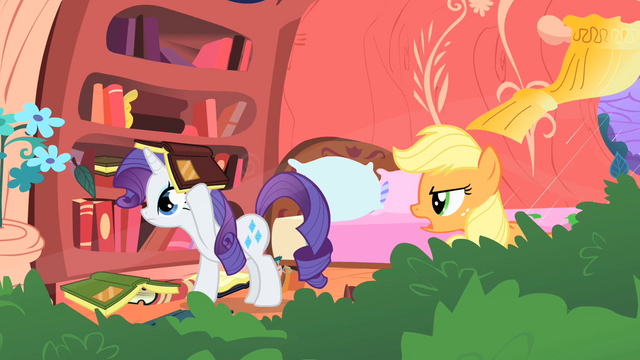 "File:Applejack ""what in tarnation are you doing"" S1E08.png"