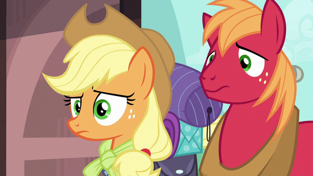 File:Applejack and Big Mac confused by Pinkie Pie S6E17.png