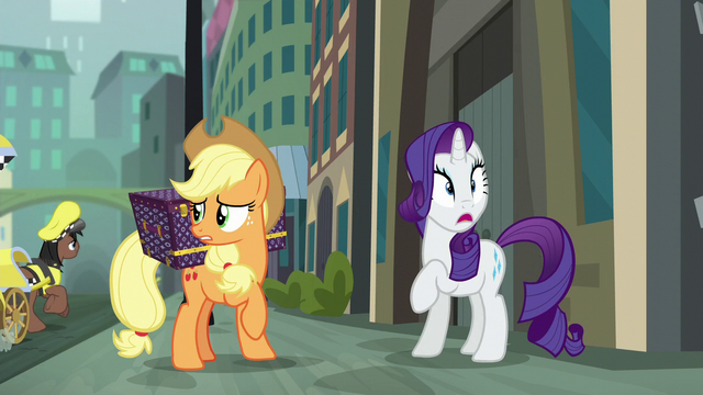 File:Applejack unsure while Rarity notices something S5E16.png