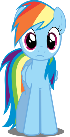 File:FANMADE Rainbow Dash in perplexity by felix kot-d3l3ns6.png