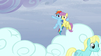 Rainbow points Parasol to a direction S5E5