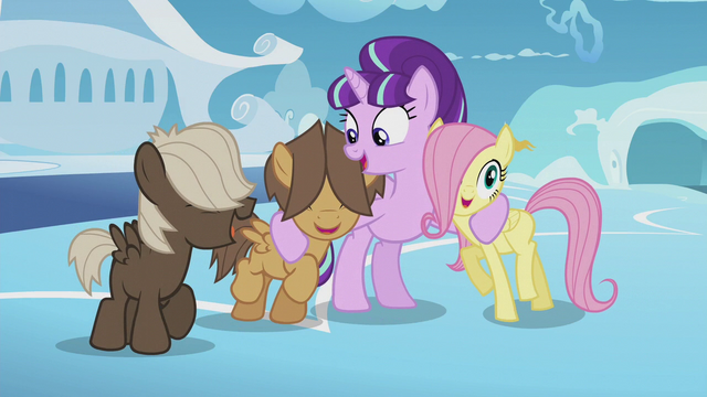 File:Starlight hugging Fluttershy and Hoops S5E25.png