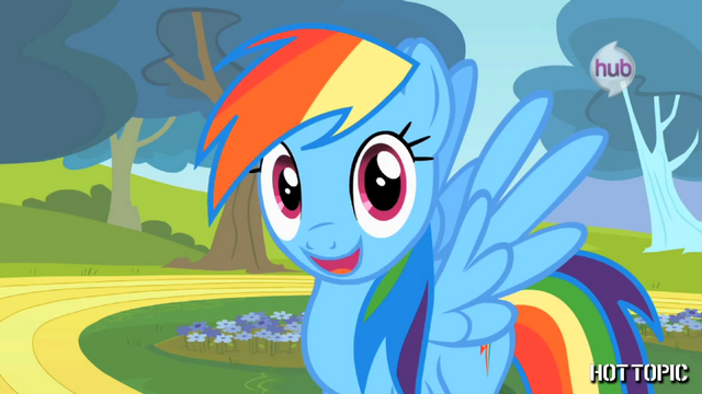 "File:Hot Minute with Rainbow Dash ""the one and only!"".png"