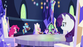Main ponies look at embarrassed Rainbow S7E14.png