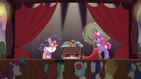 Mrs. Pearblossom asks about Charity Kindheart's costumes S5E16