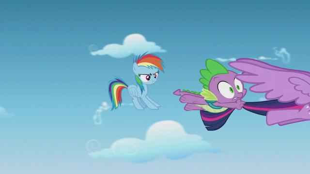 File:Rainbow Dash screeches to an air halt S5E25.png