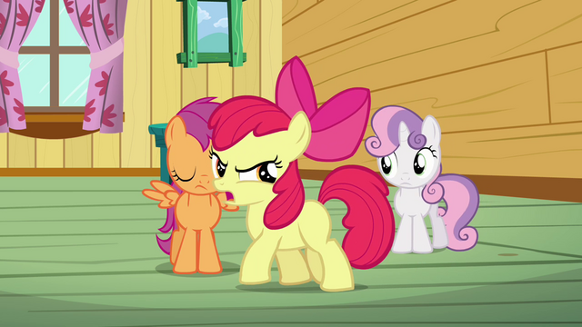 File:Apple Bloom 'We're not gonna be a bunch of tattle-tales!' S3E04.png