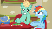 Zephyr Breeze flirting with Rainbow Dash S6E11