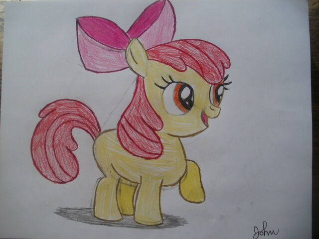File:FANMADE Apple Bloom drawing.jpg