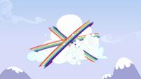 Rainbow Dash flying around cloud 3 S3E7