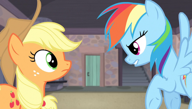 """File:Rainbow and AJ """"ready to fight"""" S5E01.png"""