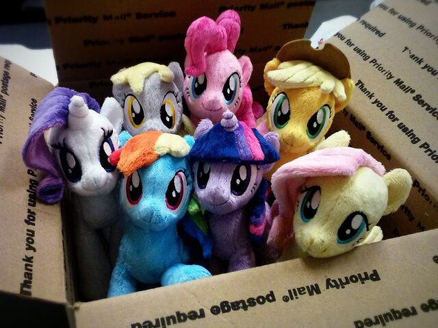 File:The Mane 6 plushies.jpg