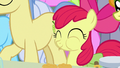 Apple Bloom happily eating pear jam S7E13.png