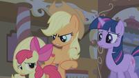 """Applejack """"hush and let the big ponies talk"""" S1E09"""