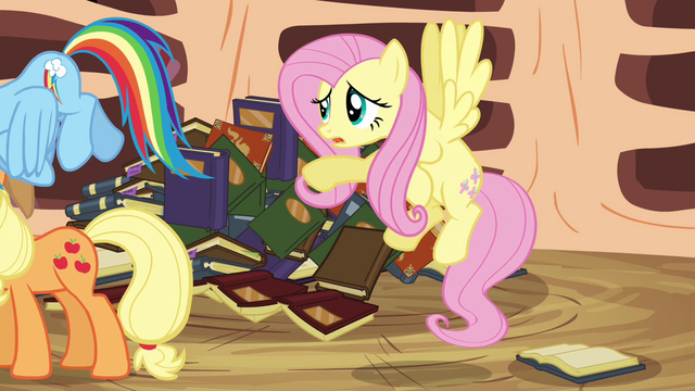 File:Fluttershy 'If you read a little further you'll see' S3E05.png