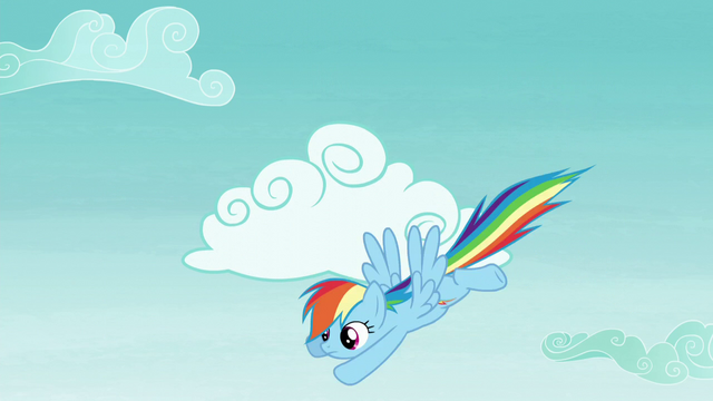 File:Rainbow flying down from the clouds S5E22.png