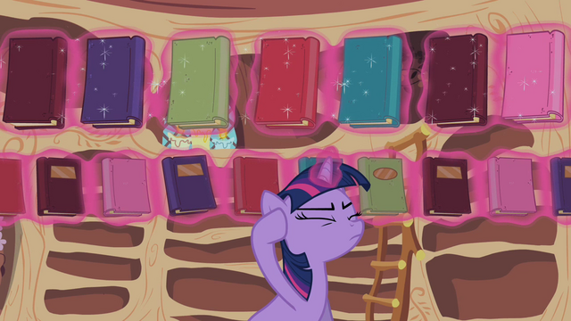 File:Twilight Sparkle reshelf books 2 S02E10.png